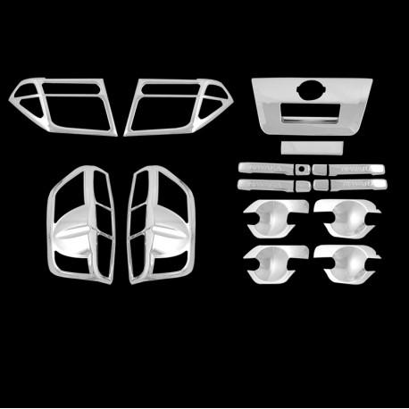 Nissan Navara cubre manubrios cromados