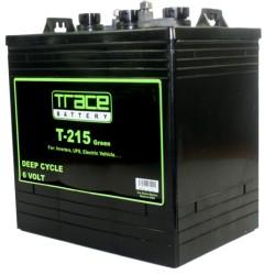 T-215 Trace Bateria para inversor 6-Voltios 215 Amperios Ciclo profundo