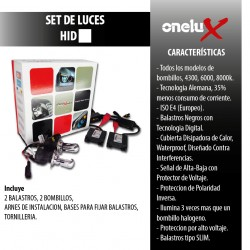 Onelux 35W Luces de Xenon HID 9006 DC Headlight Kit completo 4300K 6000K y 8000K de 35 Watts