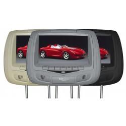 """XO Vision Reproductor DVD de 9"""" para el apoya cabeza del vehiculo"""