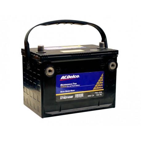 AC Delco Bateria 78DT6MF doble terminales 12 voltios libre de mantenimiento