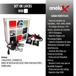 Onelux 55W Luces de Xenon HID 9006 DC Headlight Kit completo 4300K, 6000K y 8000K de 55 Watts