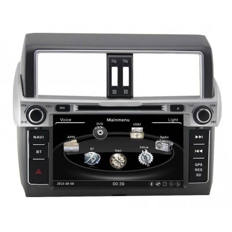 Toyota Prado 2013 2014 2015 2016 Sistema multimedia / Bluetooth / pantalla touch de 8 pulgadas / Radio tipo original reemplazo