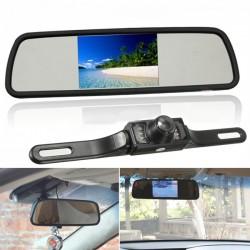 Camara de reversa con monitor LCD espejo wireless 12V universal