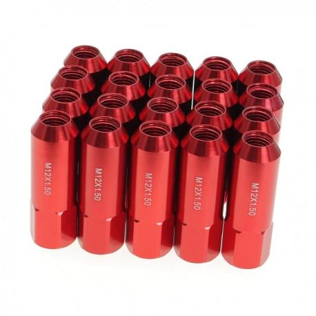 Tuercas Racing de color rojo set de 20pcs M12X1.5 Aluminum