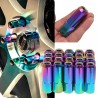 Tuercas Racing de color arcoiris set de 20pcs M12X1.5 Aluminum