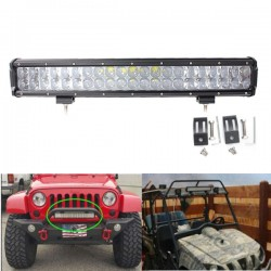 Barra de luces Led de 20 pulgadas doble lineas ideal para jeep todo terreno UTV DC10-30V 4WD SUV