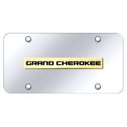"Jeep Grand Cherokee Placa decorativa en Acero Inoxidable 12"" X 6"" Logo Dorado"