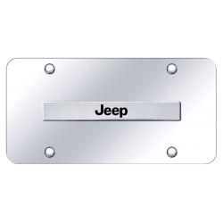 """Jeep Placa decorativa en Acero Inoxidable 12"""" X 6"""""""