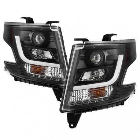 Chevrolet Tahoe 2015-2016 Pantallas delanteras Headlights Estilo Black Clear / Set de 2 PCS Lados Izquierdo y Derecho