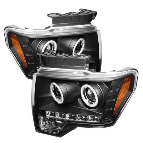 Ford F150 2009-2014 Pantallas delanteras Headlights Estilo Black Clear / Set de 2 PCS Lados Izquierdo y Derecho