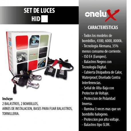 Onelux 55W Luces de Xenon HID DC Headlight Kit completo H3 6000K