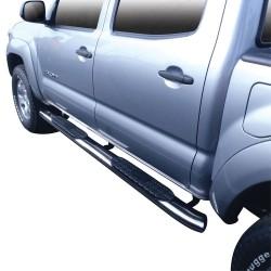 Estribos laterales Toyota Tacoma 2005-2017 / Tubo Ovalado acero inoxidable
