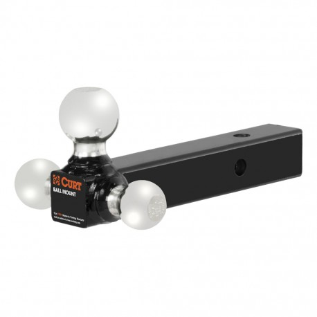 Adaptador de jalon triple bola negro 45650 Curt