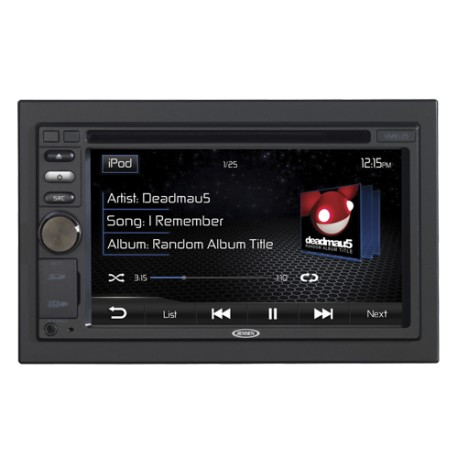 "Jensen VM9125 Radio multimedia doble din pantalla touch de 6.2"""